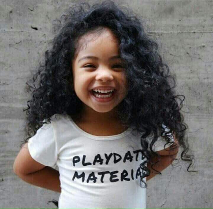 Little Black Girl Hairstyles Wild Long Curls