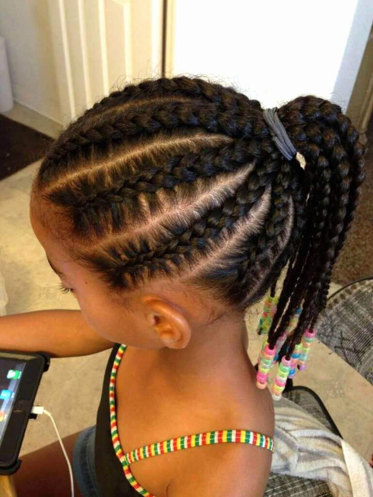 Little Black Girl Hairstyles with Ponytails