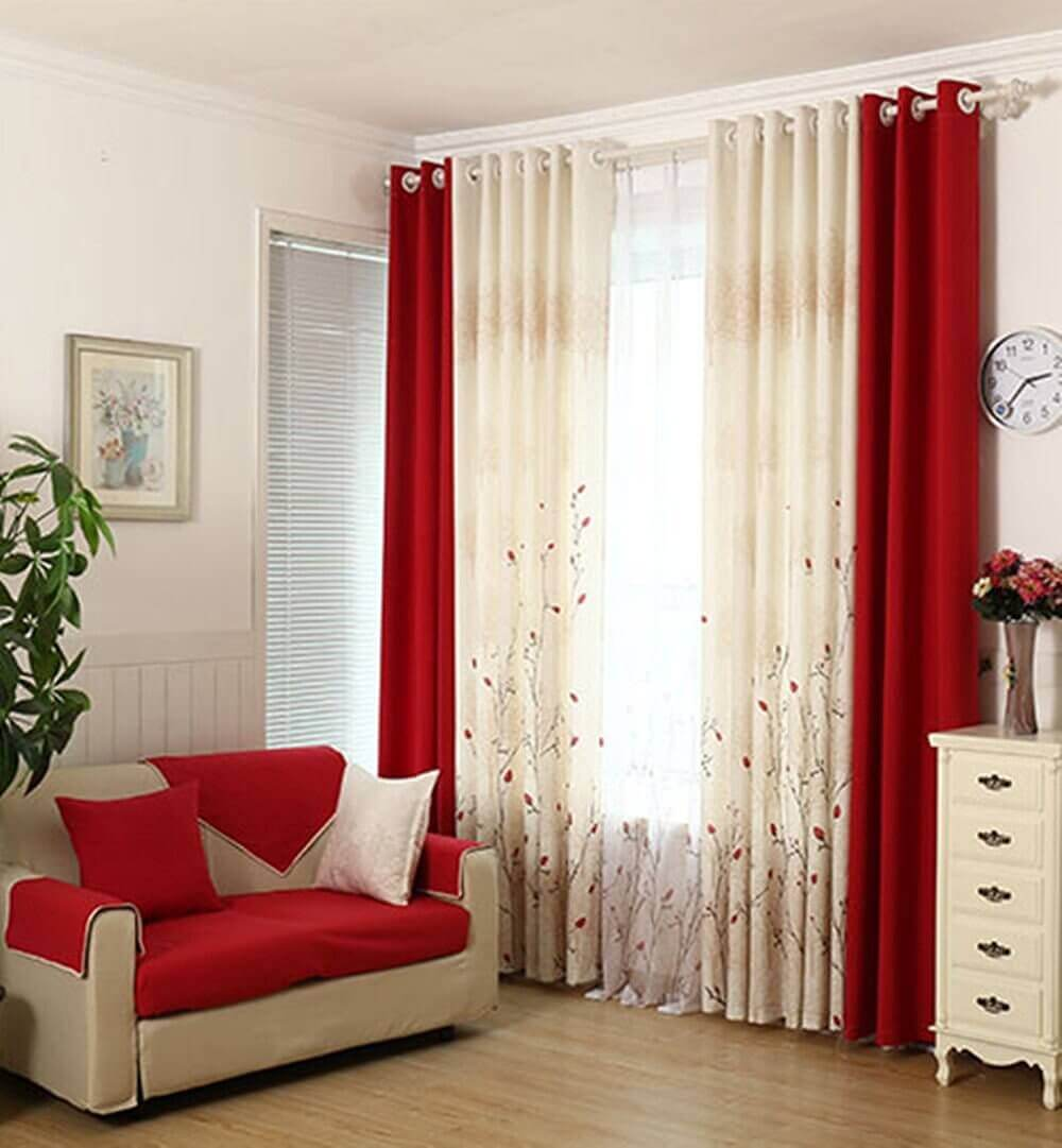 Red Curtains Living Room Ideas - Harptimes.com