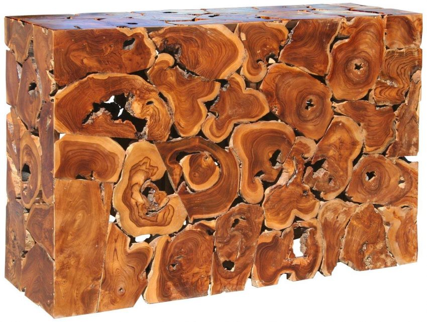 Rustic Root Sofa Table Decor Ideas