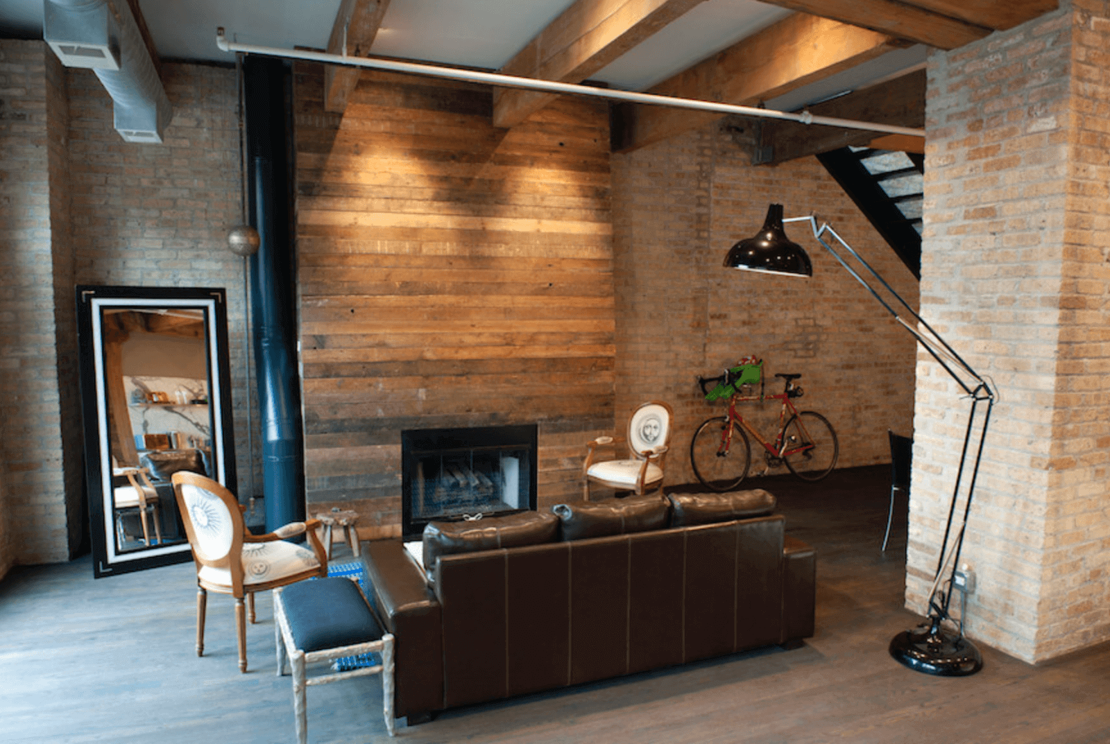 Wood Accent Wall Ideas around Fireplace