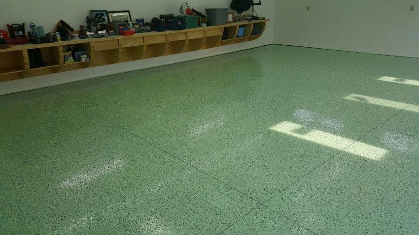 Basement Floor Paint Epoxy in Vibrant Green Ideas