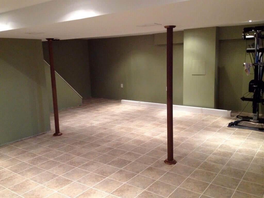 Ceramic or Porcelain Tile Flooring for Basement Paint Ideas