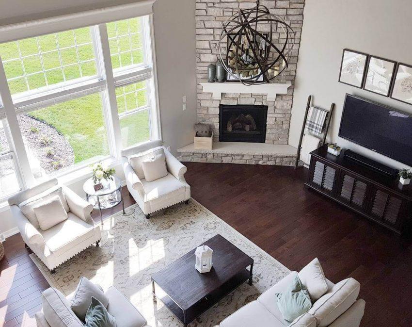Corner Fireplace Furniture Placement Ideas