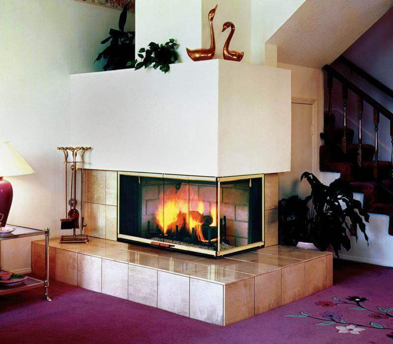 Small Corner Fireplace Ideas in Advanced Electric