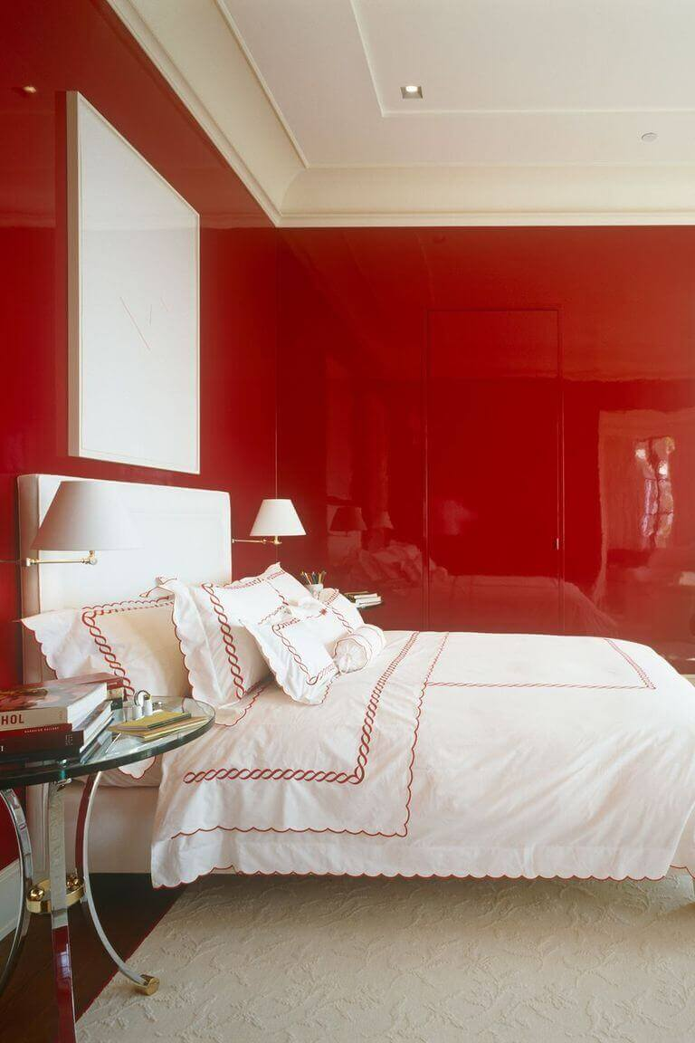 Red Master Bedroom Ideas Pinterest Make Your Walls Pop