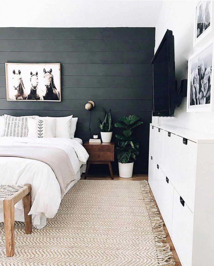 Bold Shiplap Wall Paneling Ideas for Bedroom