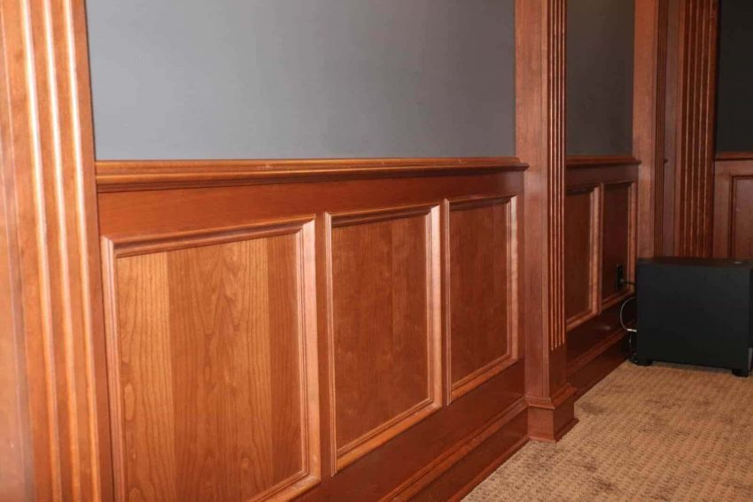 Half Wall Paneling Ideas with Oak Wainscoting