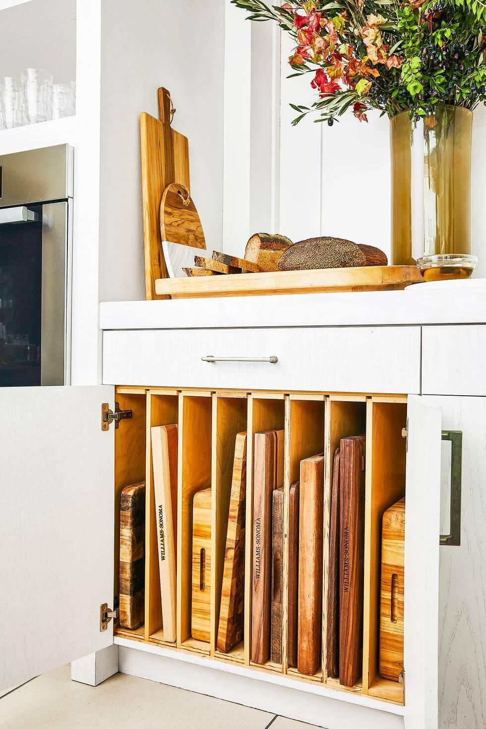Small Kitchen Storage Ideas 2020 Create Cutting Board Slots