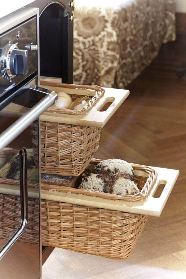 Best Kitchen Storage Ideas for small spaces Customize Bread Baskets