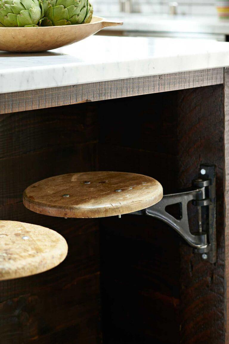 Small indian Kitchen Storage Ideas 35 Save Space with Swing Stools