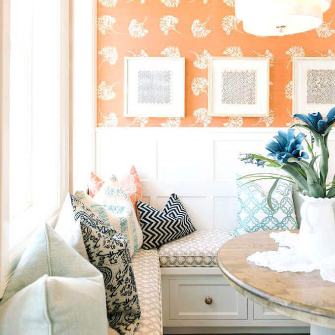 Modern Wainscoting Wall Paneling Ideas with Colorful Patterns