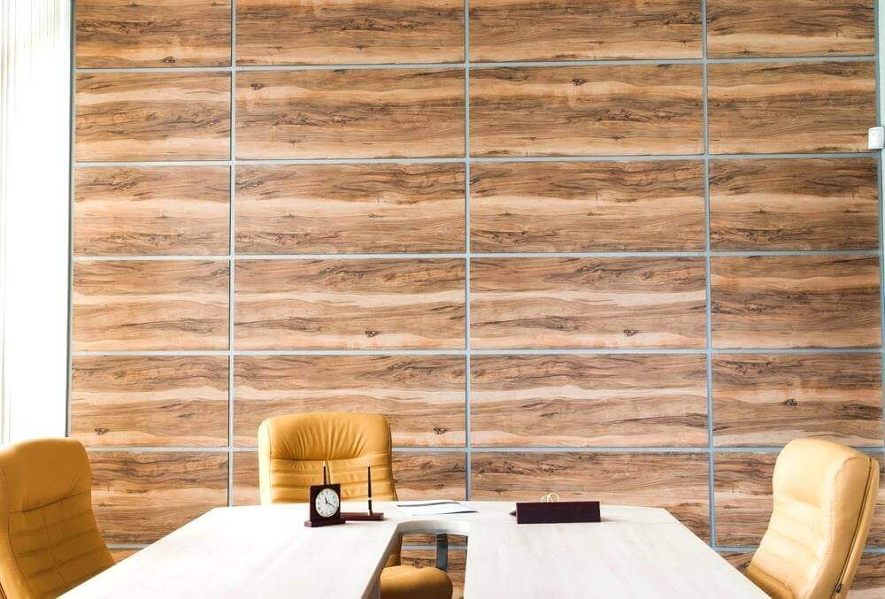 Plastic Wall Paneling Ideas with Wood Look