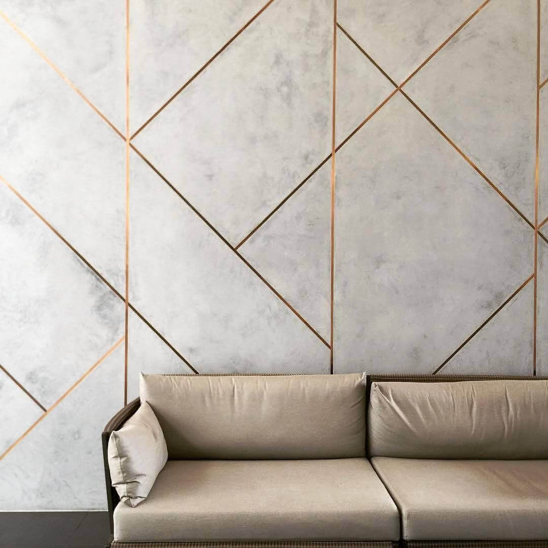 Wall Paneling Ideas with Geometric Lines