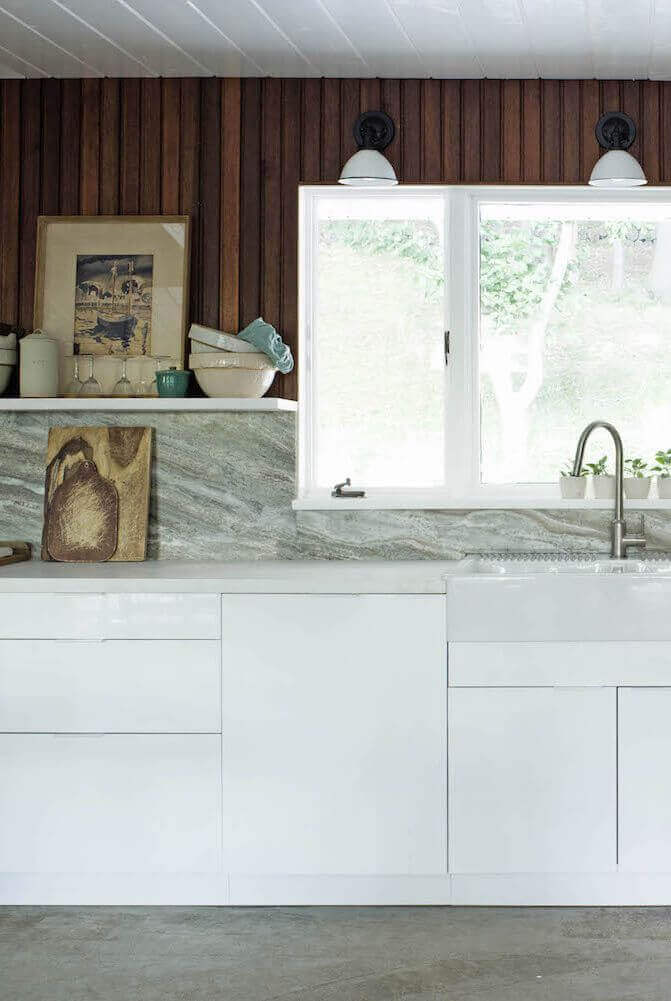 Interior Wall Paneling Ideas for Kitchen with Marble