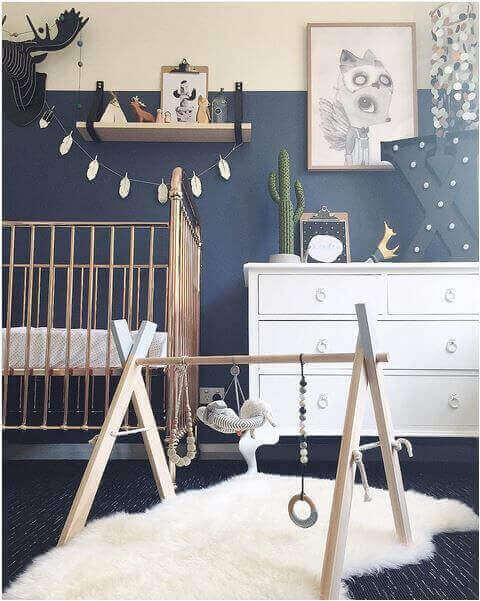 Baby Room Ideas Boy with Bold Colors and Patterns - Harptimes.com