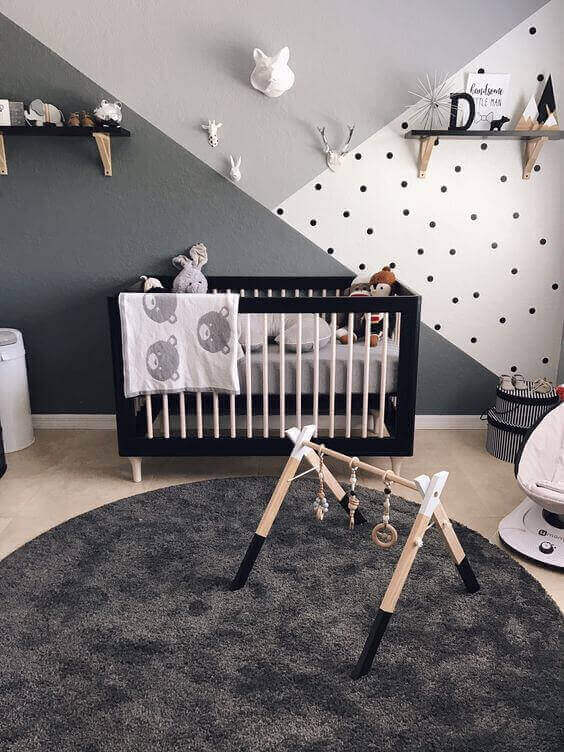 Baby Room Ideas Boys with Monochromatic Patterns - Harptimes.com
