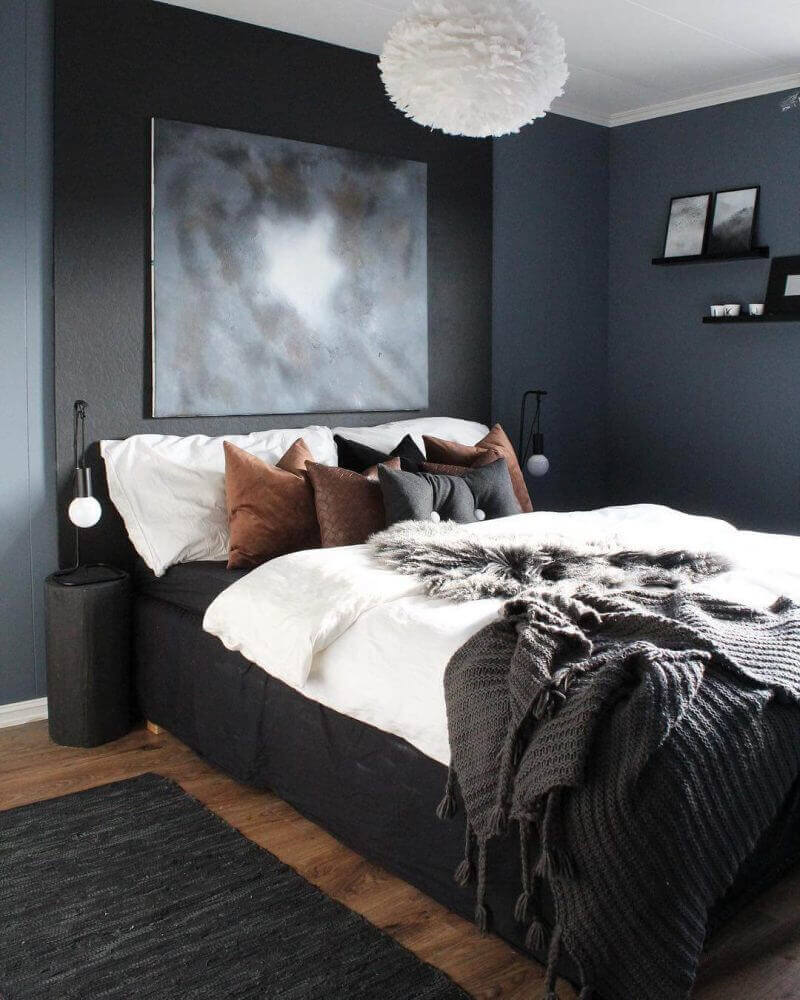 Bedroom Paint Colors Bold and Masculine Grey - Harptimes.com