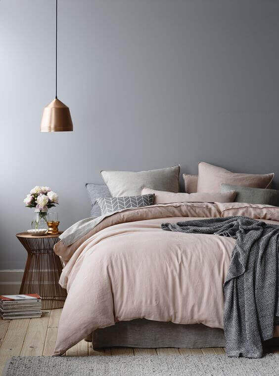 Bedroom Paint Colors The Collaboration of Grey and Copper - Harptimes.com