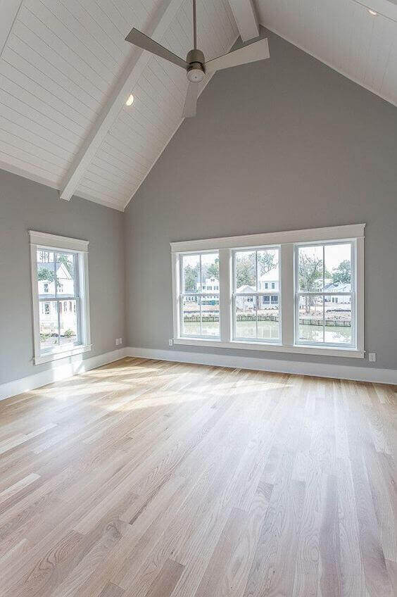 Bedroom Paint Colors The Elegant Grey with White Vaulted Ceiling - Harptimes.com