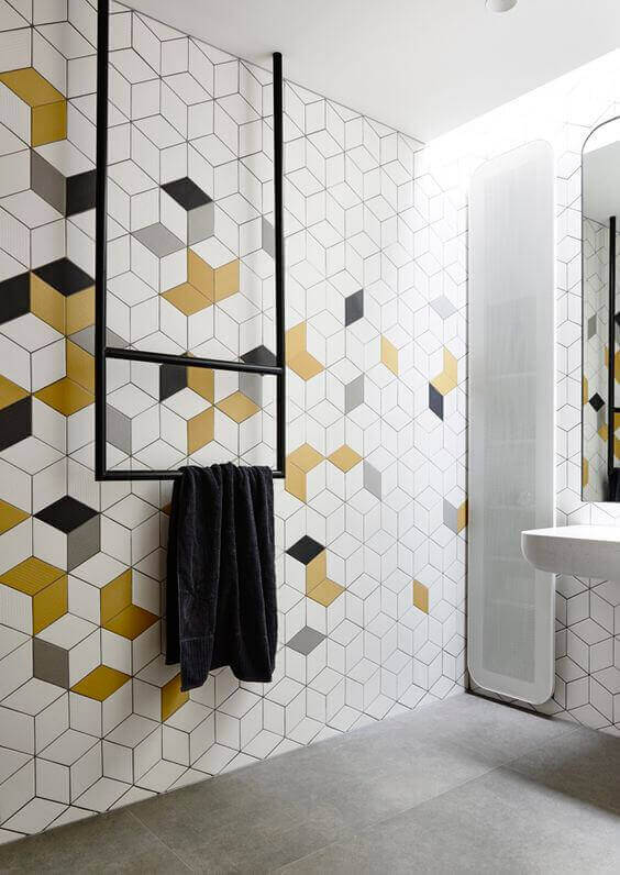 Bedroom Paint Colors Tints of Yellow in Geometric Style - Harptimes.com
