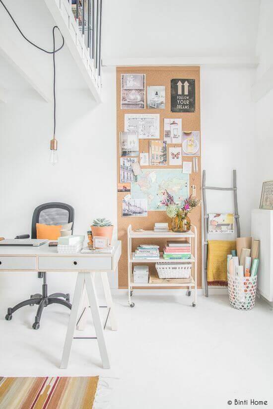 Cork Board Ideas Focal Point of an Office - Harptimes.com