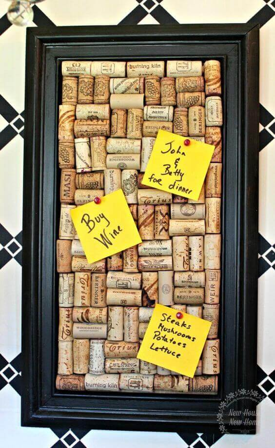 Cork Board Ideas Frame The Corks - Harptimes.com