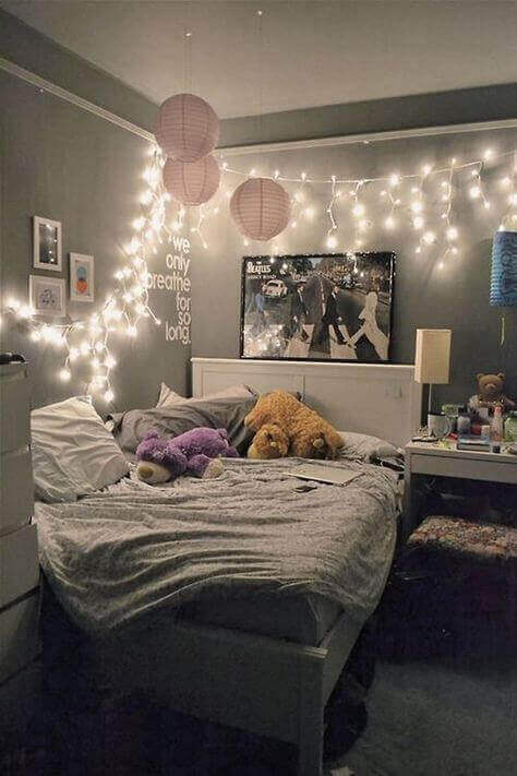 Kid Girls Bedroom Ideas with Decorative Lighting - Harptimes.com
