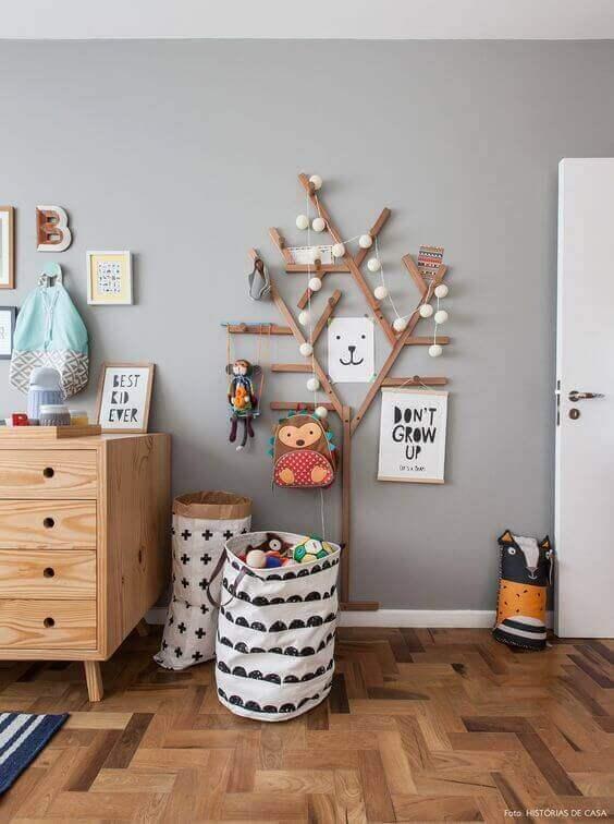 Kids Bedroom Ideas 3D Wooden Tree Wall Art - Harptimes.com