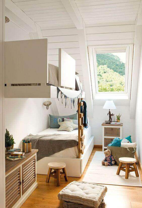 Kids Bedroom Ideas Attic Bunk Room - Harptimes.com