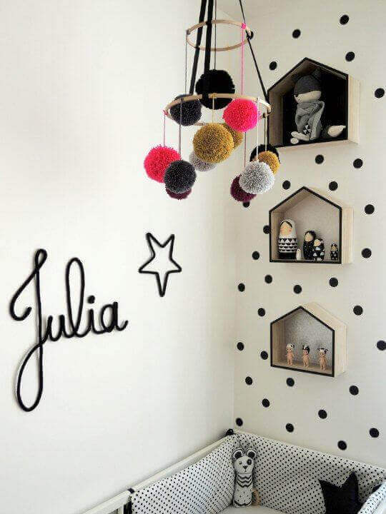 Kids Bedroom Ideas Striking Pom Poms - Harptimes.com