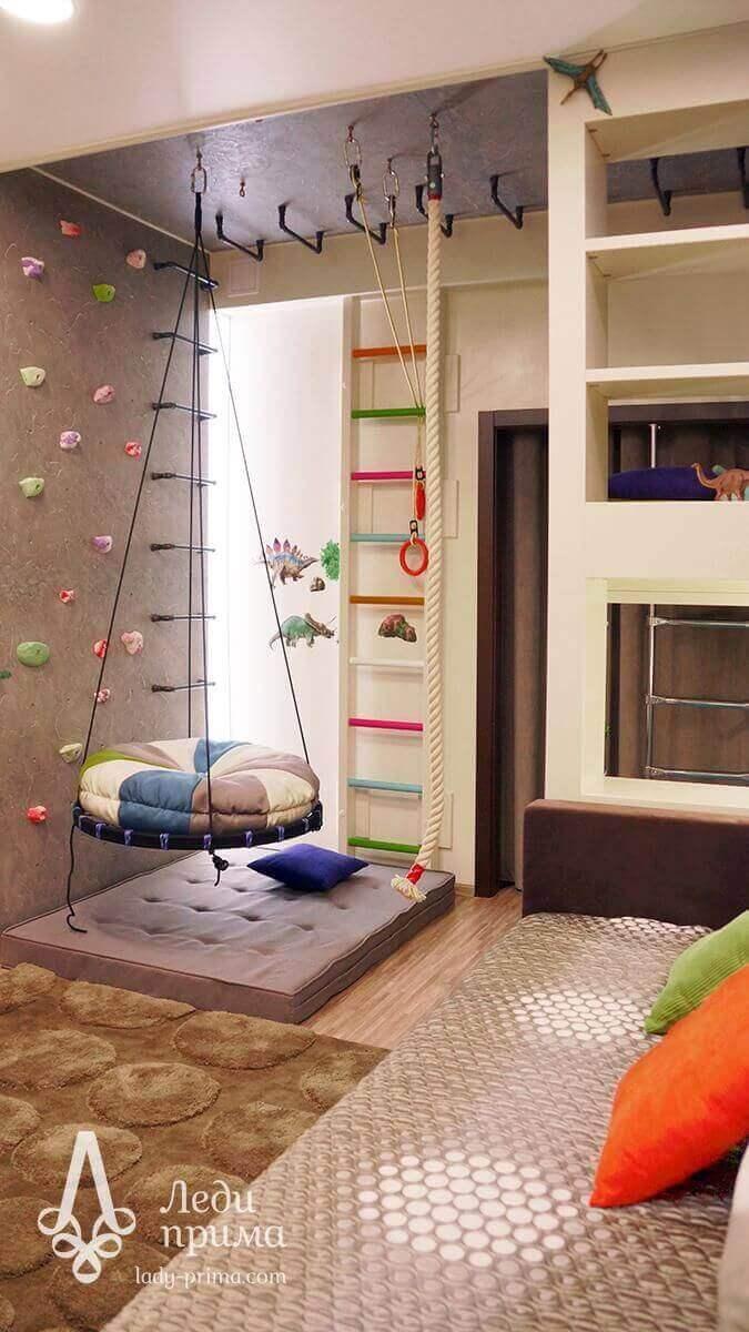 Kids Bedroom Ideas Swinging Round Bed - Harptimes.com