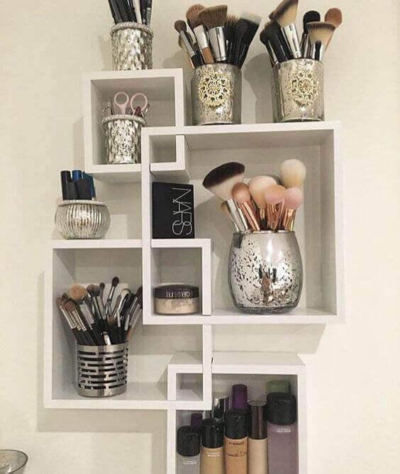 Makeup Room Ideas Cubical Shelves for Makeup Tools - Harptimes.com
