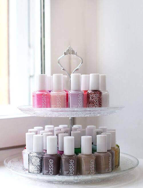 Makeup Room Ideas DIY Nail-Polish Rack - Harptimes.com