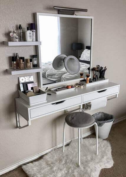 Makeup Room Ideas Floating Dressing Table - Harptimes.com