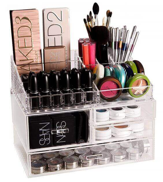 Makeup Room Ideas Makeup Kit and Essentials Glass Rack - Harptimes.com