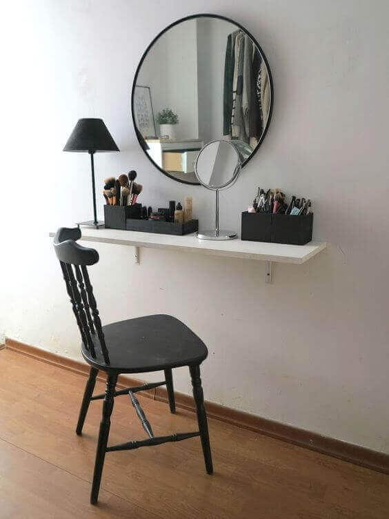 Modern Black and White Makeup Room Ideas - Harptimes.com