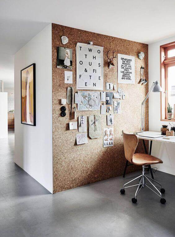 Multifunctional Cork Board Wall Ideas - Harptimes.com
