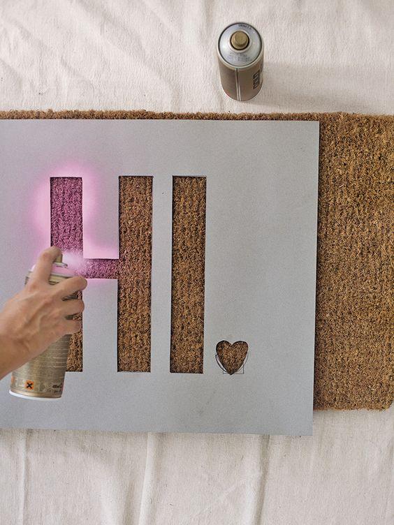 Stencil Your Cork Board Ideas - Harptimes.com