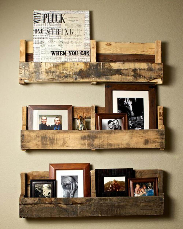 DIY Wall Pallet Shelving Ideas