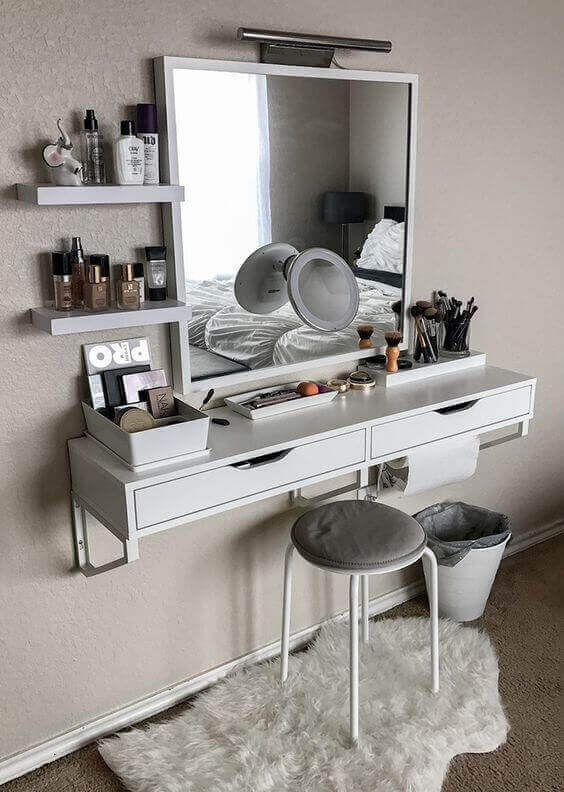 Floating Dresser for Small bedroom ideas - Harptimes.com