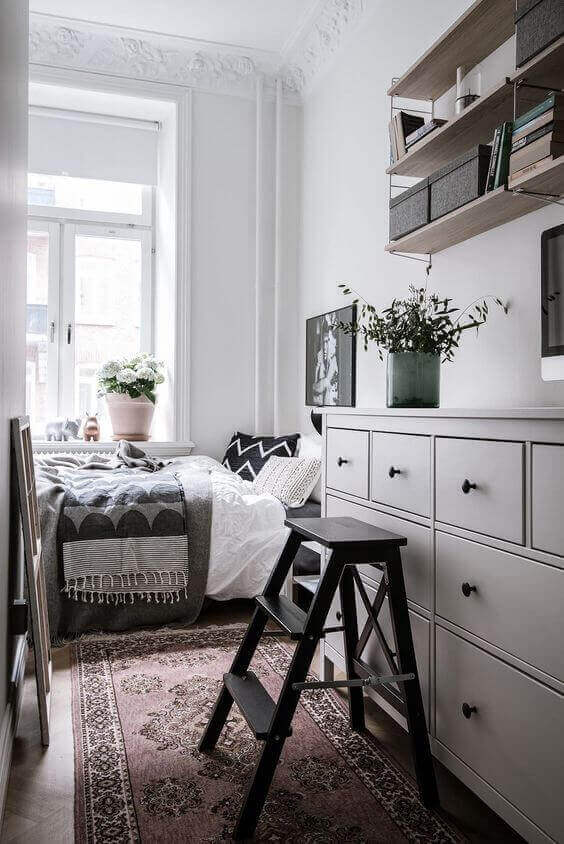 Floating Shelves for Small Bedroom Ideas - Harptimes.com