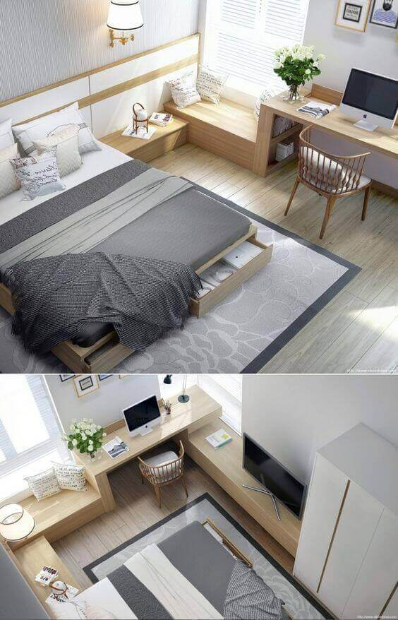 Small Bedroom Ideas with Built-Ins - Harptimes.com