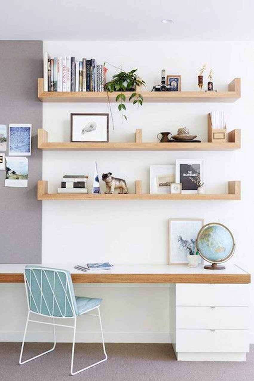 Full Wall Shelving Ideas for Office