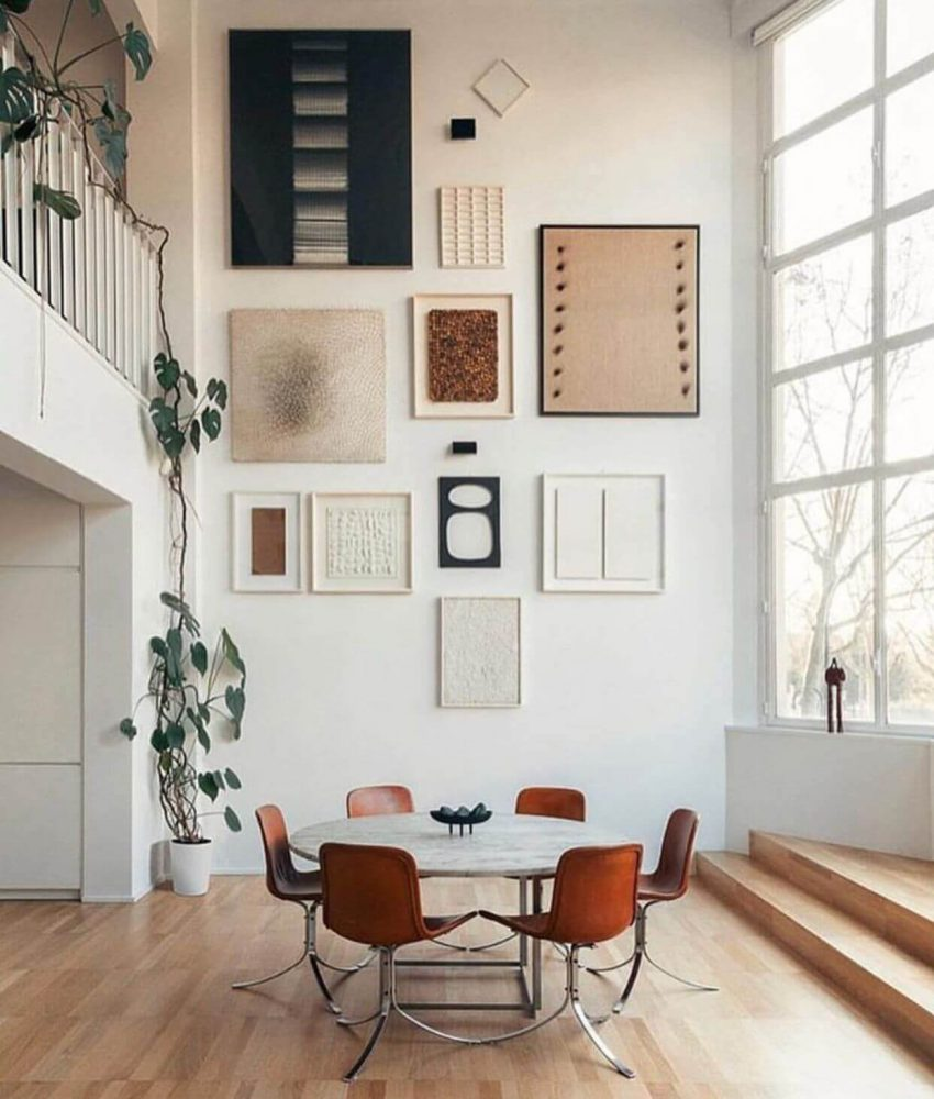 Neutral Abstract Gallery Wall Ideas