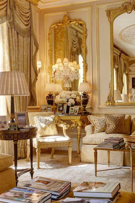 French Country Decor Lavish Living Room - Harptimes.com